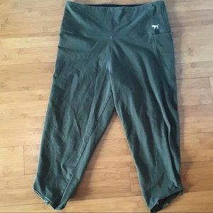 VS Pink Army Green Cropped Pants